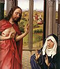 Rogier van der Weyden Miraflores Altarpiece right panel [detail 1] painting
